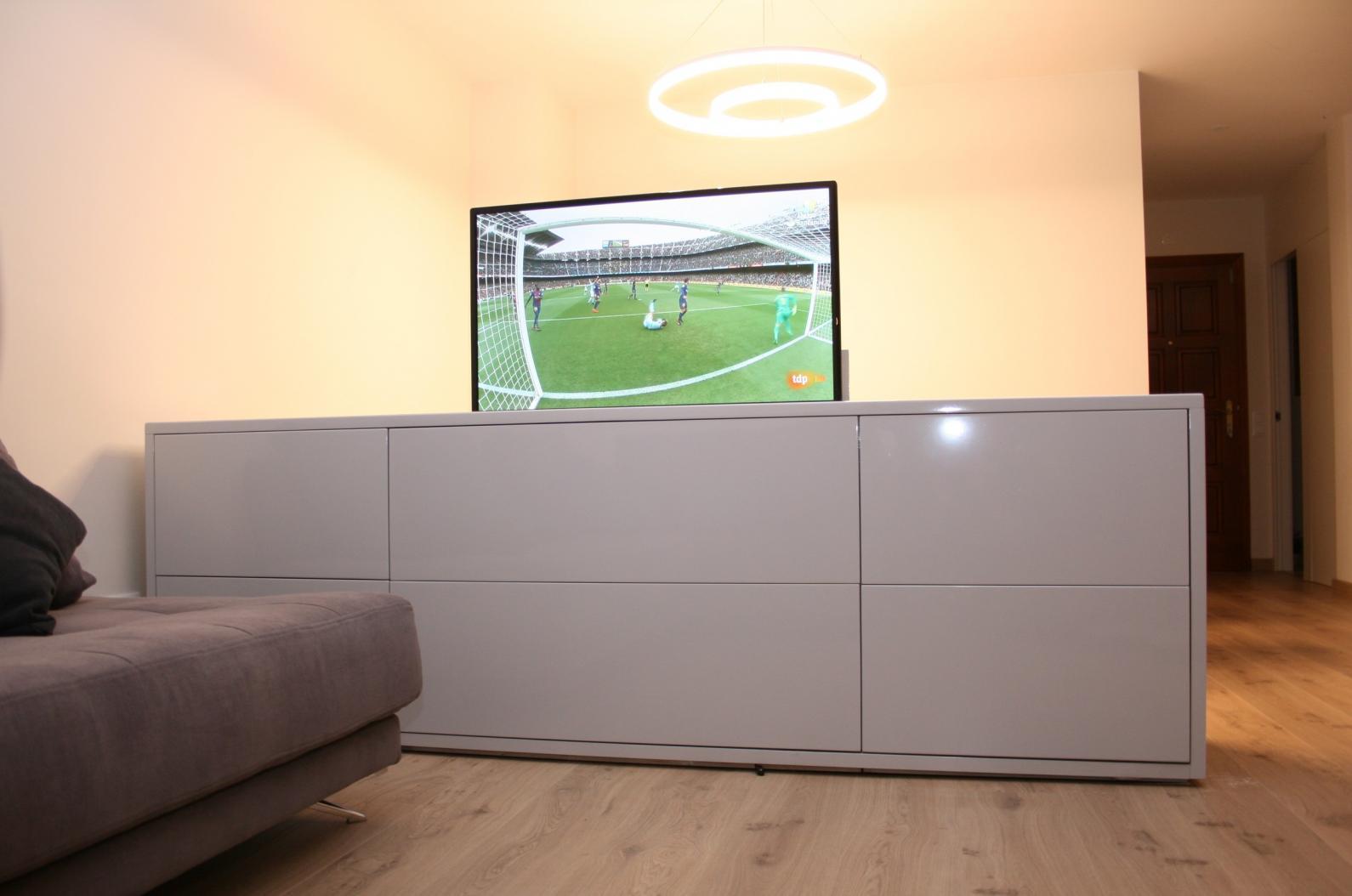 Mueble tv oculta a medida y muebles de dise o marquel - Mueble ocultar tv ...