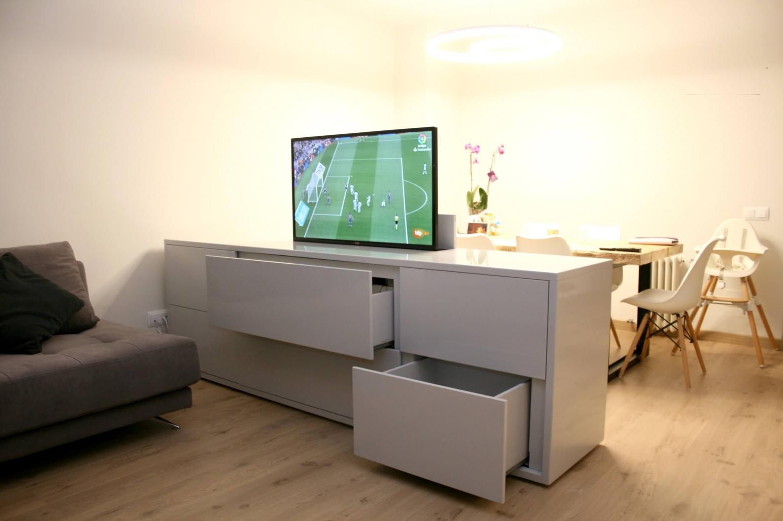 Muebles para ocultar la televisión con espacio para almacenamiento ...