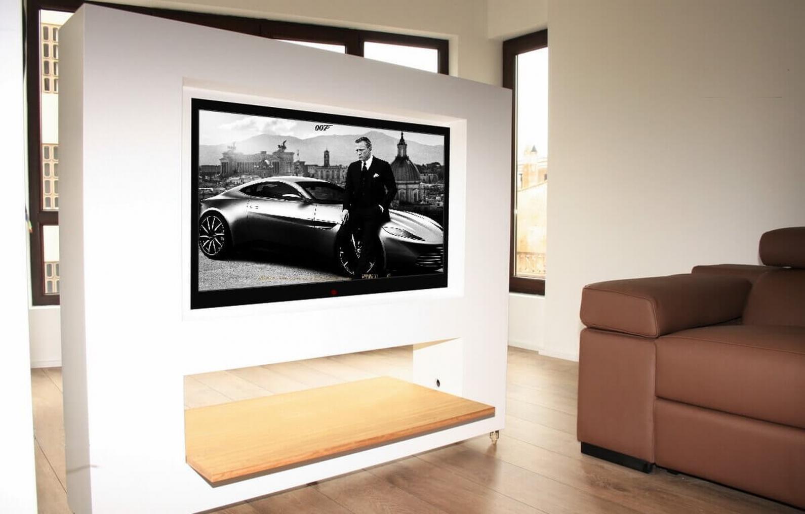 Mueble Tv Oculta A Medida Y Muebles De Dise O Marquel # Mueble Soporte Tv Diseno