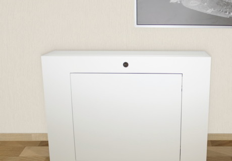 Mueble TV blanco satinado