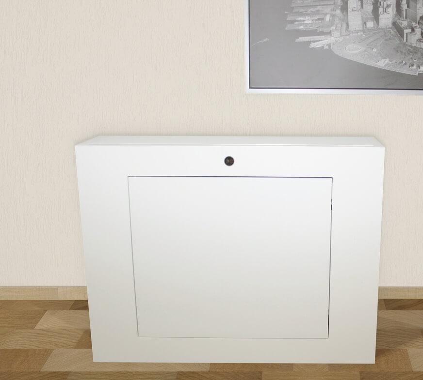 Mueble TV blanco satinado