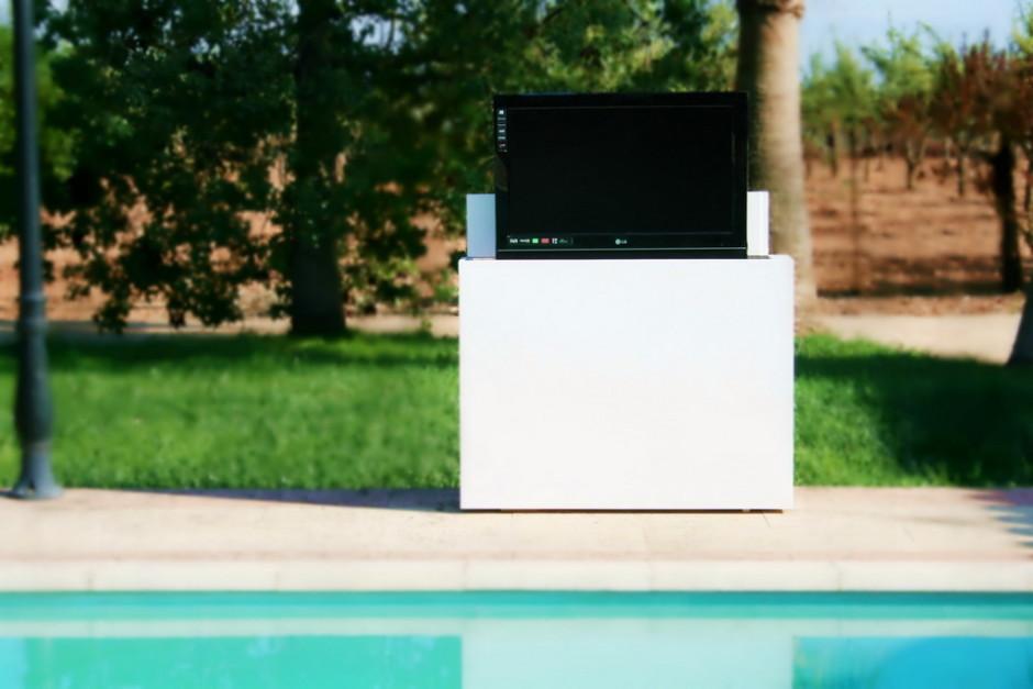 Mueble TV exterior para terraza