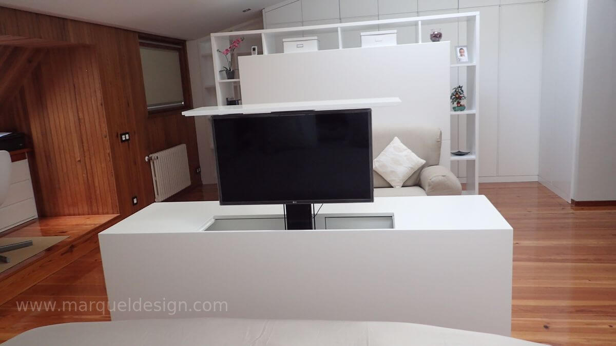muebles para ocultar tv plana ForMueble Que Esconde Tv